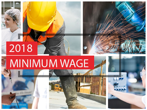 2018 Minimum Wage & Related Legal Parameter Changes